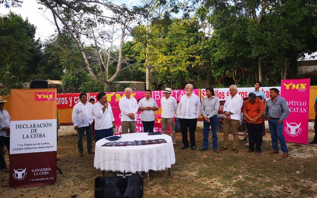 Declaración de la Ceiba por la Defensa de la Fiesta Brava en la Península de Yucatán
