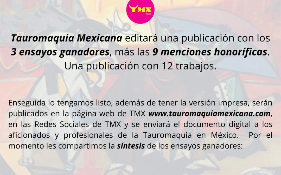Tauromaquia Mexicana editará una publicación con Ensayos Ganadores