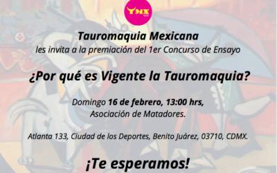 Premiación 1er Concurso de Ensayo ¿Por qué es vigente la Tauroamaquia?