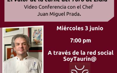 """Próximo miércoles 3 de junio, a través de la Red Social SoyTaurin@: Video-Conferencia con Ximena Rivas, """"Gastronomía y Tauromaquia: El valor de la carne del Toro de Lidia"""""""