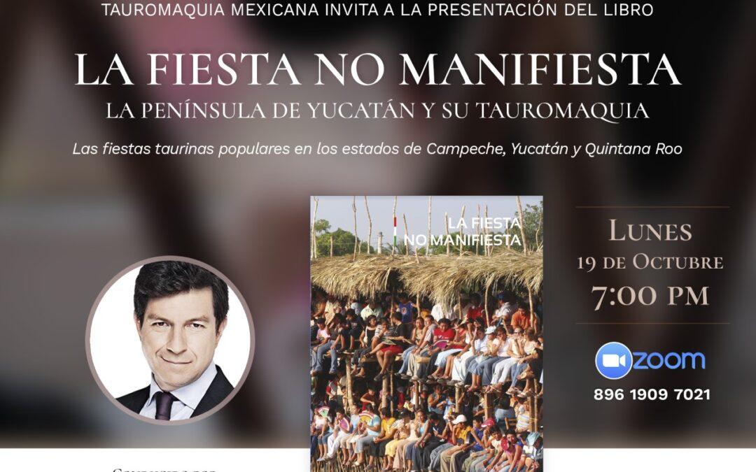 """TMX te invita a la Presentación del Libro """"La Fiesta No Manifiesta"""" vía ZOOM"""