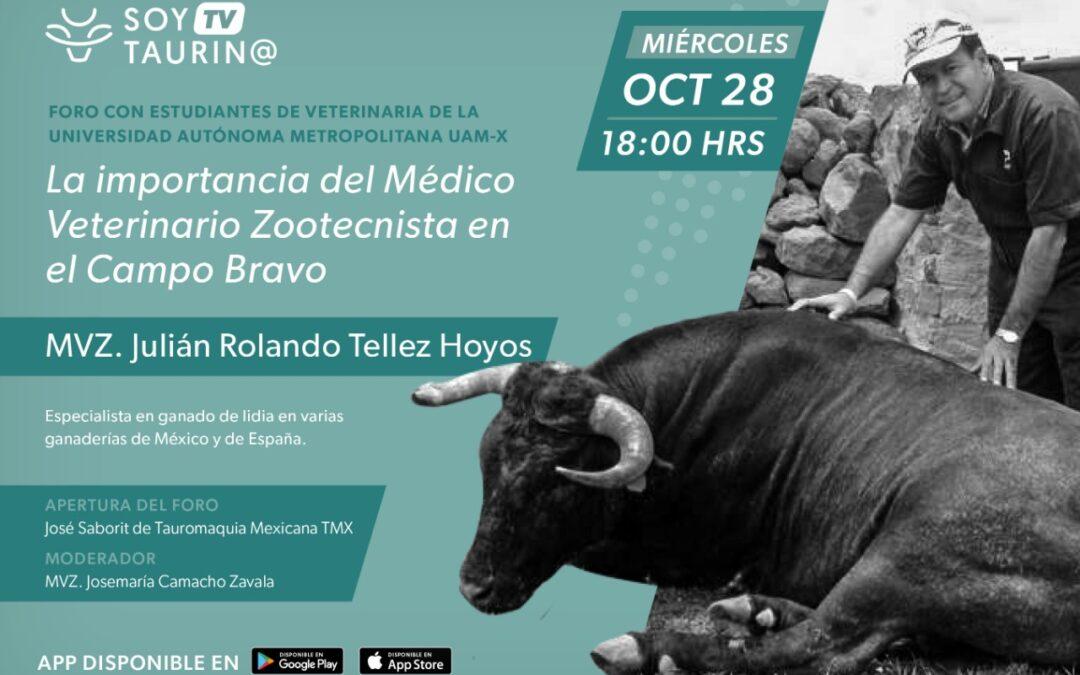 """¡MAÑANA!  28 de octubre a través de la red social SoyTaurin@ : Video Foro en vivo """"La Importancia del Médico Veterinario Zootecnista en el Campo Bravo"""""""