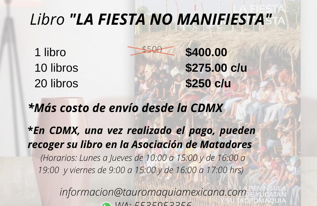 """¡Ya casi es Navidad! Y las promociones continuan, compra a precios especiales tu libro """"La Fiesta No Manifiesta!"""