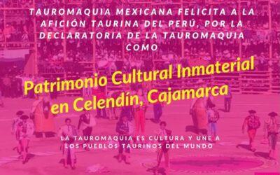 Enhorabuena aficionados del Perú por la declaratoria de la Tauromaquia como Patrimonio Cultural