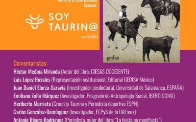 Soy Taurino te invita a la presentación del libro:  VAQUEROS MÍTICOS