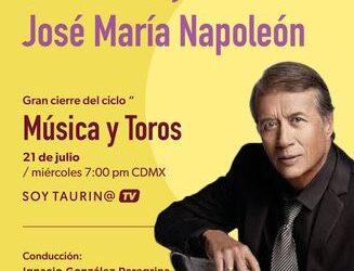 """SoyTaurin@ dentro del #ciclo """"Música y Toros"""", te invita a la conferencia: UNA VIDA DE MÚSICA Y TOROS: JOSÉ MARÍA NAPOLEÓN"""