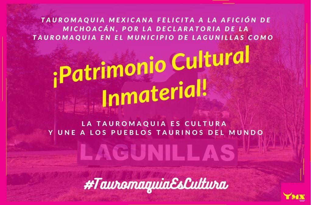 🎉 Tauromaquia Mexicana celebra y felicita a la afición michoacana por la reciente declaratoria de la Tauromaquia como ⭐️PATRIMONIO CULTURAL INMATERIAL⭐️ en el municipio de Lagunillas 🥳👏🏼